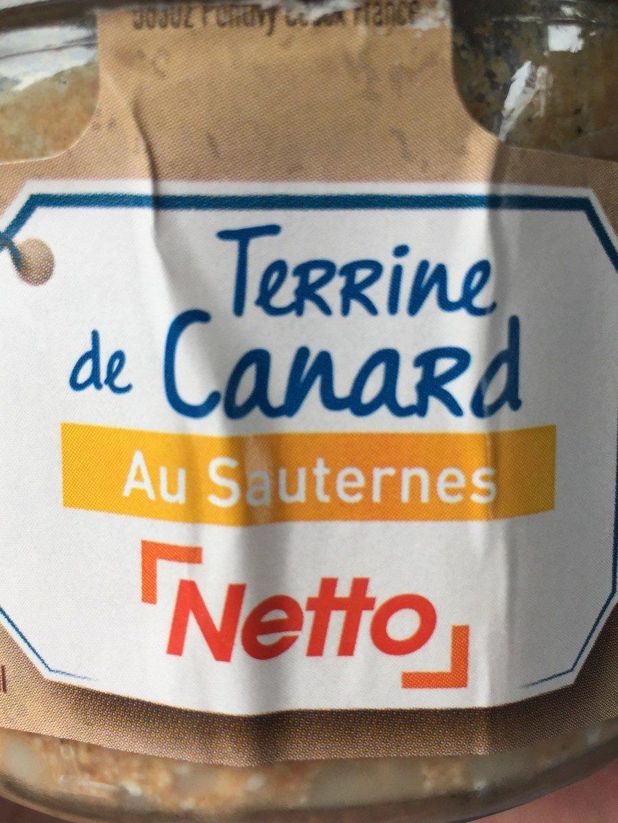 Terrine de canard cuisinée au Sauternes - Product