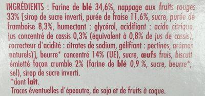 Tartelettes fruits rouges et Crumble le paquet de 125 g - Ingredients - fr