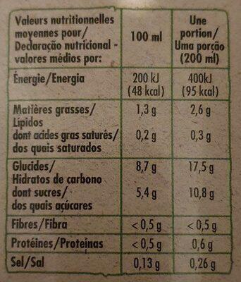 Boisson riz et amande - Voedingswaarden - fr