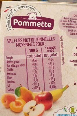 Compote Cocktail De Fruit - Nutrition facts