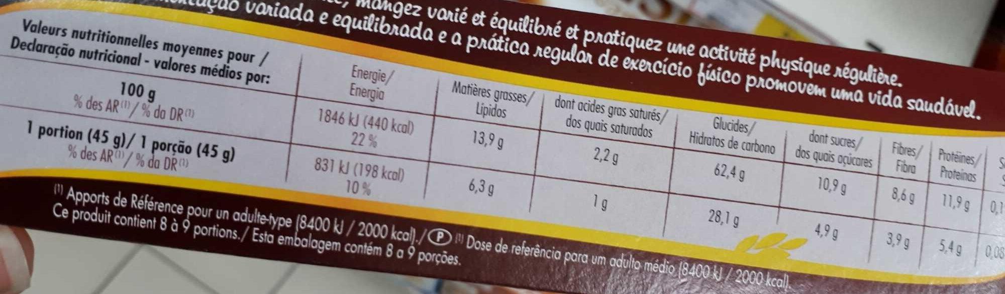 Muesli Graines Anciennes - Informations nutritionnelles - fr