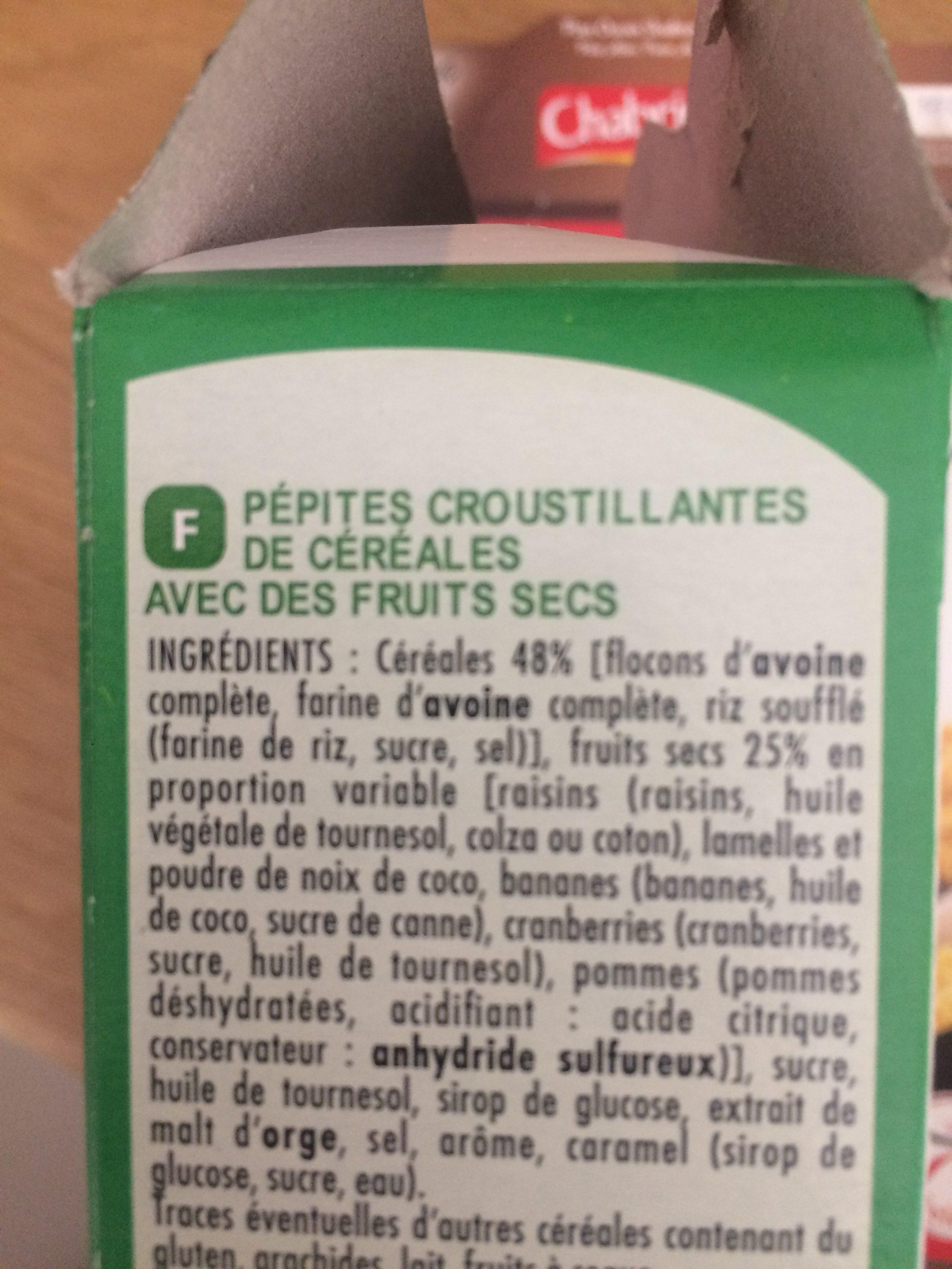 Muesli crisp 5 fruits - Ingrédients - fr
