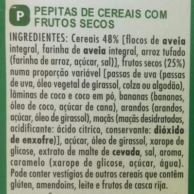 Muesli crisp 5 fruits - Ingredients