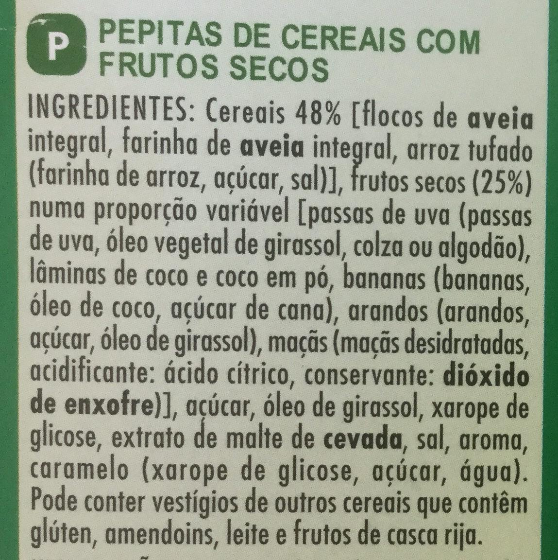 Muesli crisp 5 fruits - Ingredientes