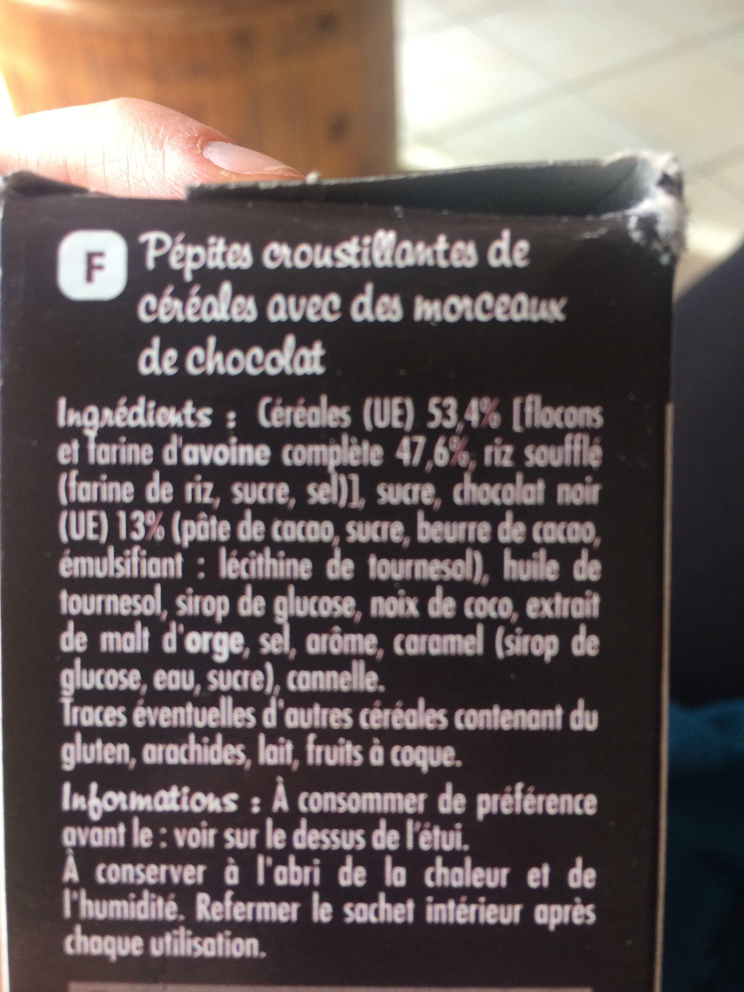 Muesli Crisp Chocolat noir - Ingredients