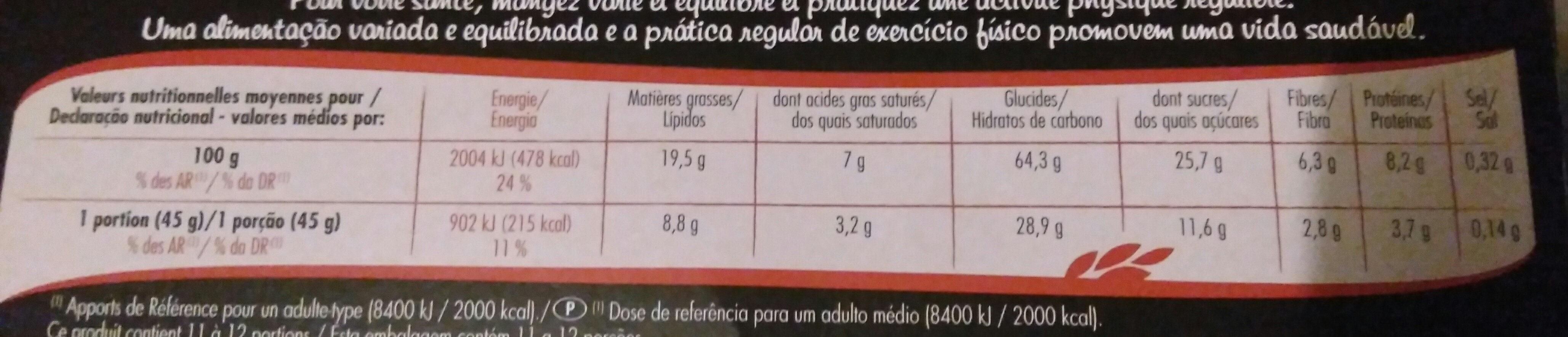 Muesli Crisp Chocolat noir - Nutrition facts