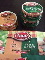 Etui 2 pâtés de foie + 2 pâté de campagne - Product