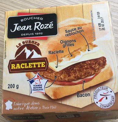 Le burger raclette - Produit