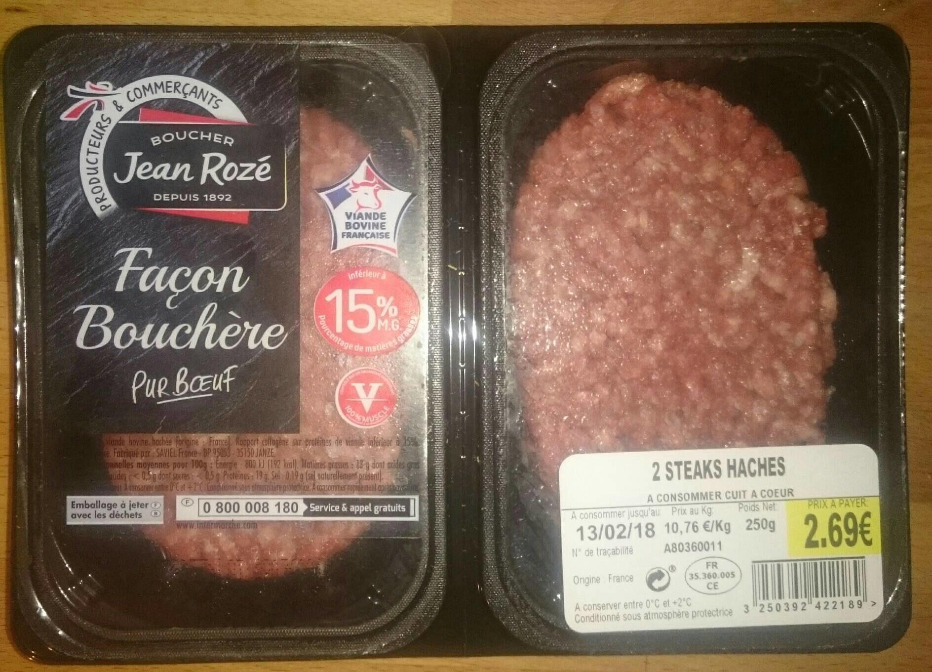 Steaks Hachés Façon Bouchère Pur Bœuf 15% MG - Product - fr