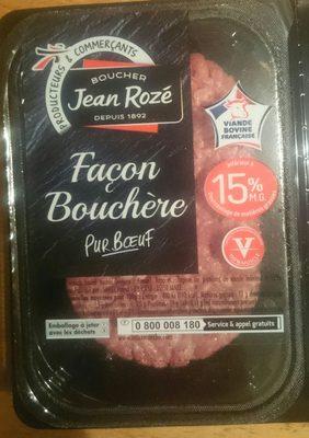 Steaks Hachés Façon Bouchère Pur Bœuf 15% MG - Ingrediënten