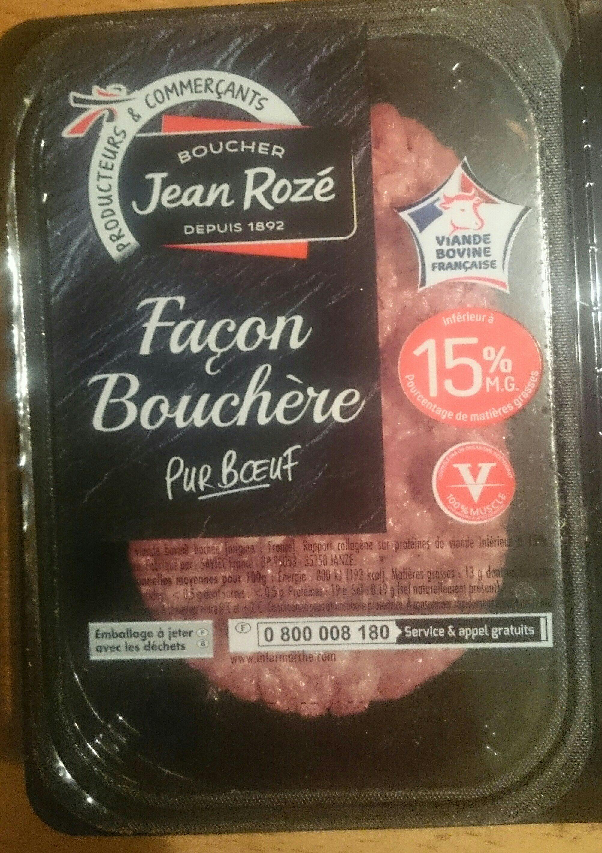 Steaks Hachés Façon Bouchère Pur Bœuf 15% MG - Ingrediënten - fr