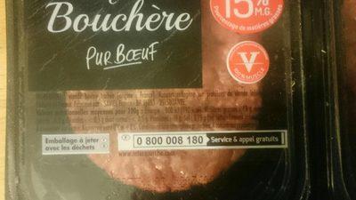 Steaks Hachés Façon Bouchère Pur Bœuf 15% MG - Voedingswaarden - fr