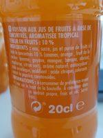 Look fruit'o tropical - Ingrédients - fr