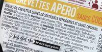 Crevettes apéro sauce cocktail (maxi format) - Ingrediënten