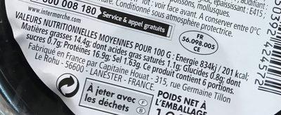 Crevettes apéro sauce cocktail (maxi format) - Voedingswaarden
