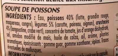 Soupe de poissons recette bretonne - Ingredientes - fr