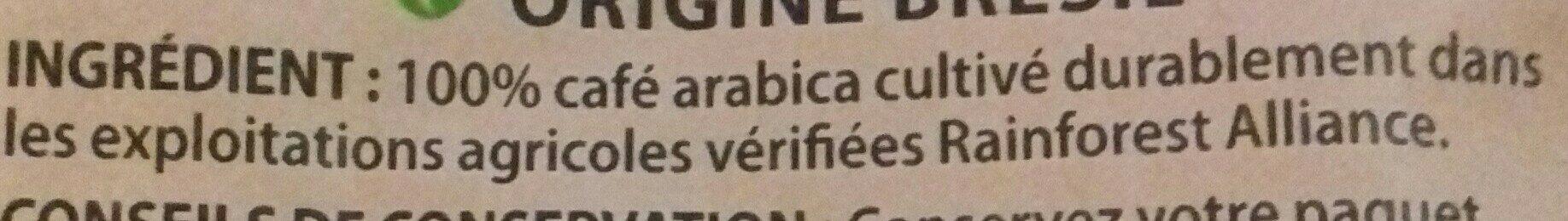 Pur arabica Brésil grains - Ingrediënten - fr