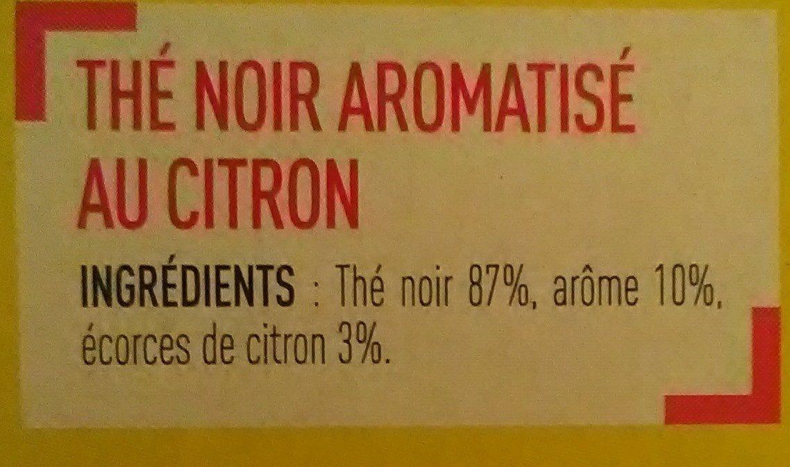 Thé noir aromatisé citron - Ingredients - fr