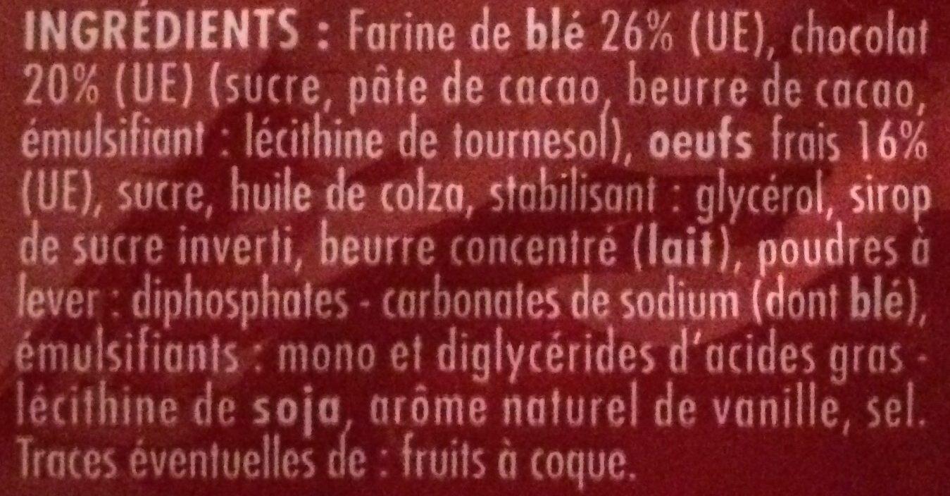 Madeleines nappées de chocolat aux œufs frais - Ingrédients