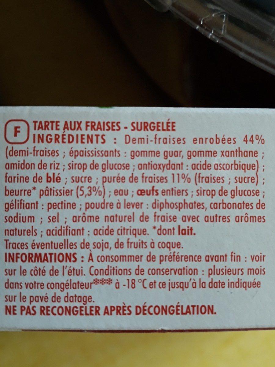 Tarte aux fraises - Ingrédients - fr