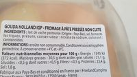 Gouda holland IGP - Ingrédients - fr