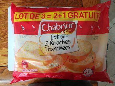 Lot de 3 Brioches Tranchées - Product - fr