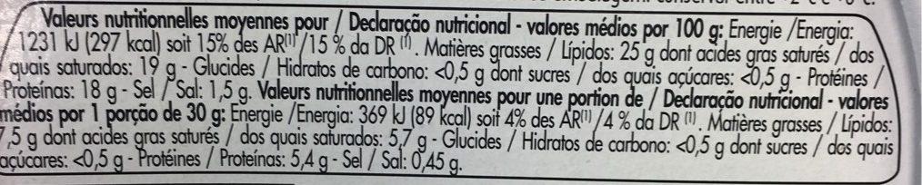 Le Cabrou - Informations nutritionnelles - fr