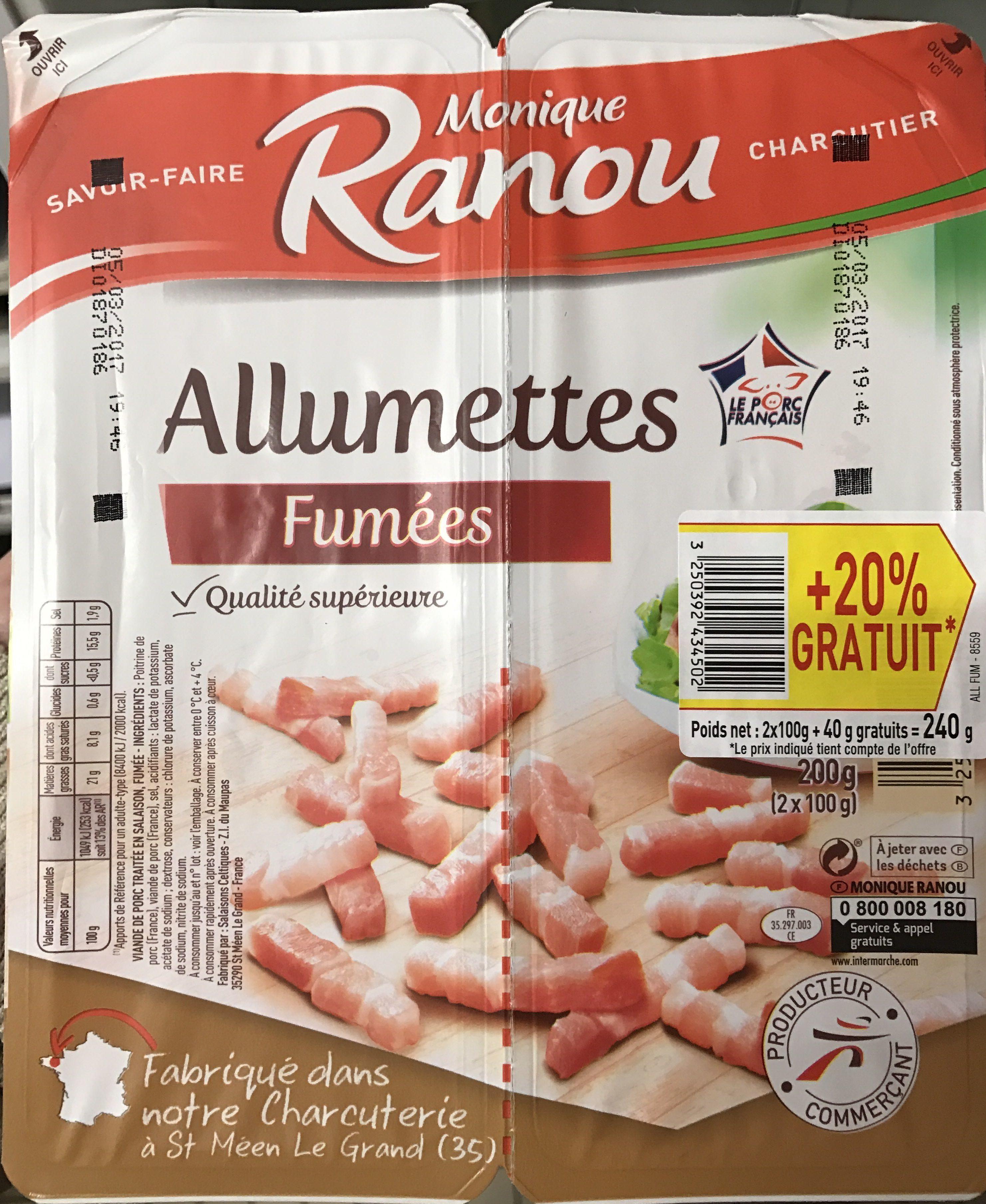 Allumettes fumées (+20% gratuit) - Product