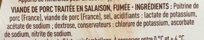 Allumettes fumées (+20% gratuit) - Ingredients