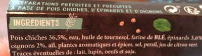 Falafels - Veggie marché - Ingredients