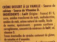 Goûters lactés saveur vanille - Ingrédients