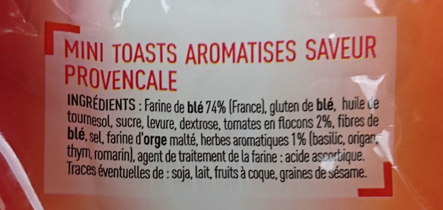 Mini Toasts - Ingrediënten - fr