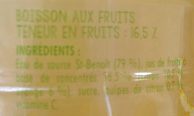 Citronnade Citron & Orange - Inhaltsstoffe - fr