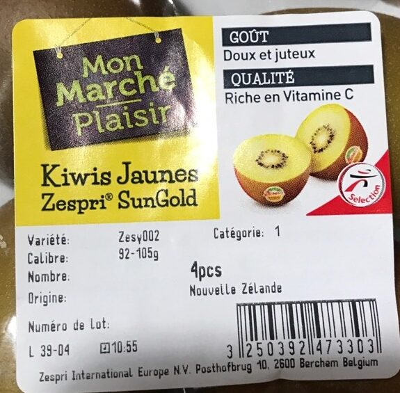 Kiwis jaunes - Ingredients - fr