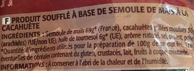 Cricfie's cacahuète - Ingrédients