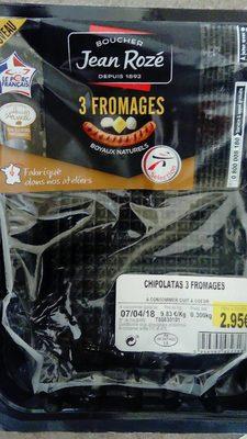 Saucisses 3 Fromages - Produit