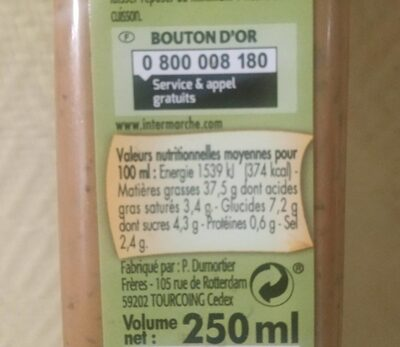Marinade express'provencale - Informations nutritionnelles - fr