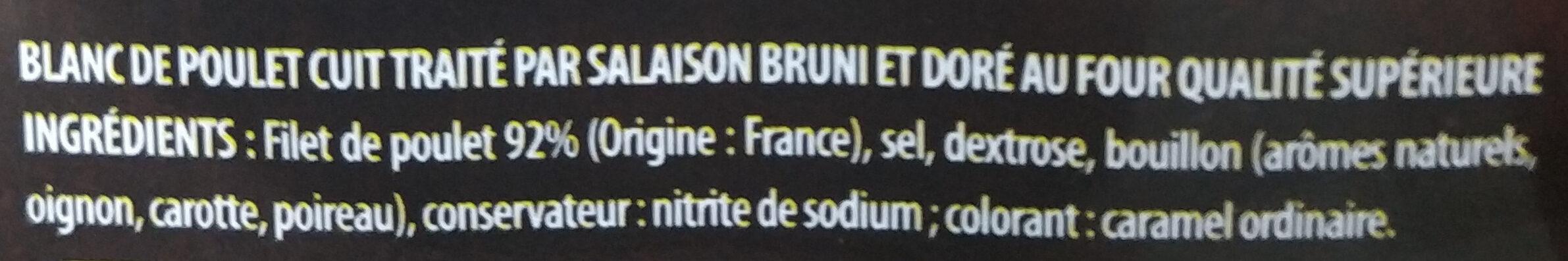 Blanc de poulet - Ingredients - fr