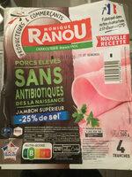Jambon supérieur - Ingredients - fr