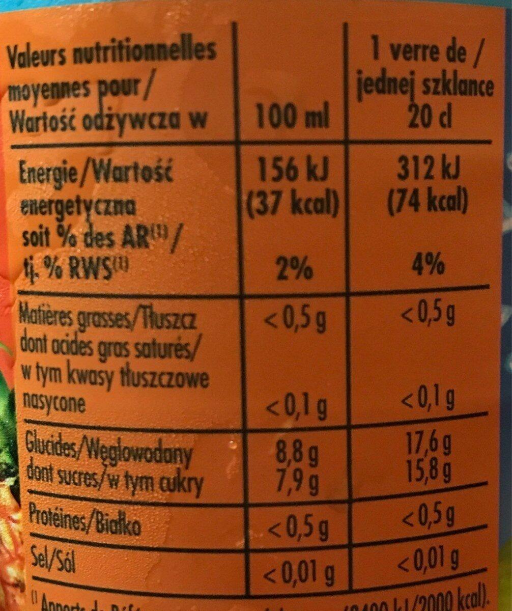Look Tropick - Informations nutritionnelles - fr