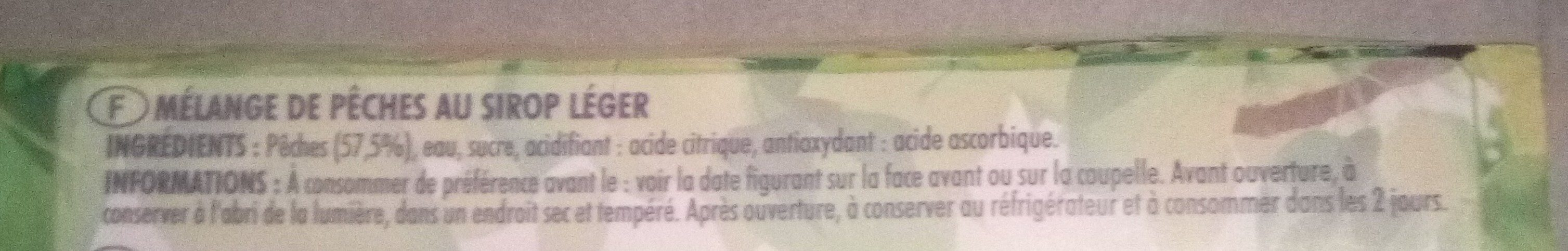 PAQUITO MELANGE FRT EXO 4X113G - Ingredients - fr