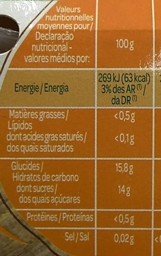 PAQUITO MELANGE FRT EXO 4X113G - Nutrition facts - fr