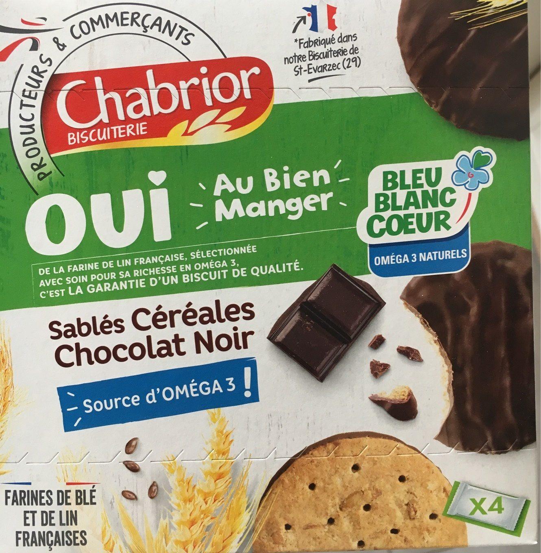 Sablés céréales chocolat noir - Product - fr