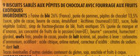 Sableo au chocolar coeur fruits exotiques - Ingredients - fr