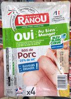 Roti de porc bleu blanc coeur - Produit - fr