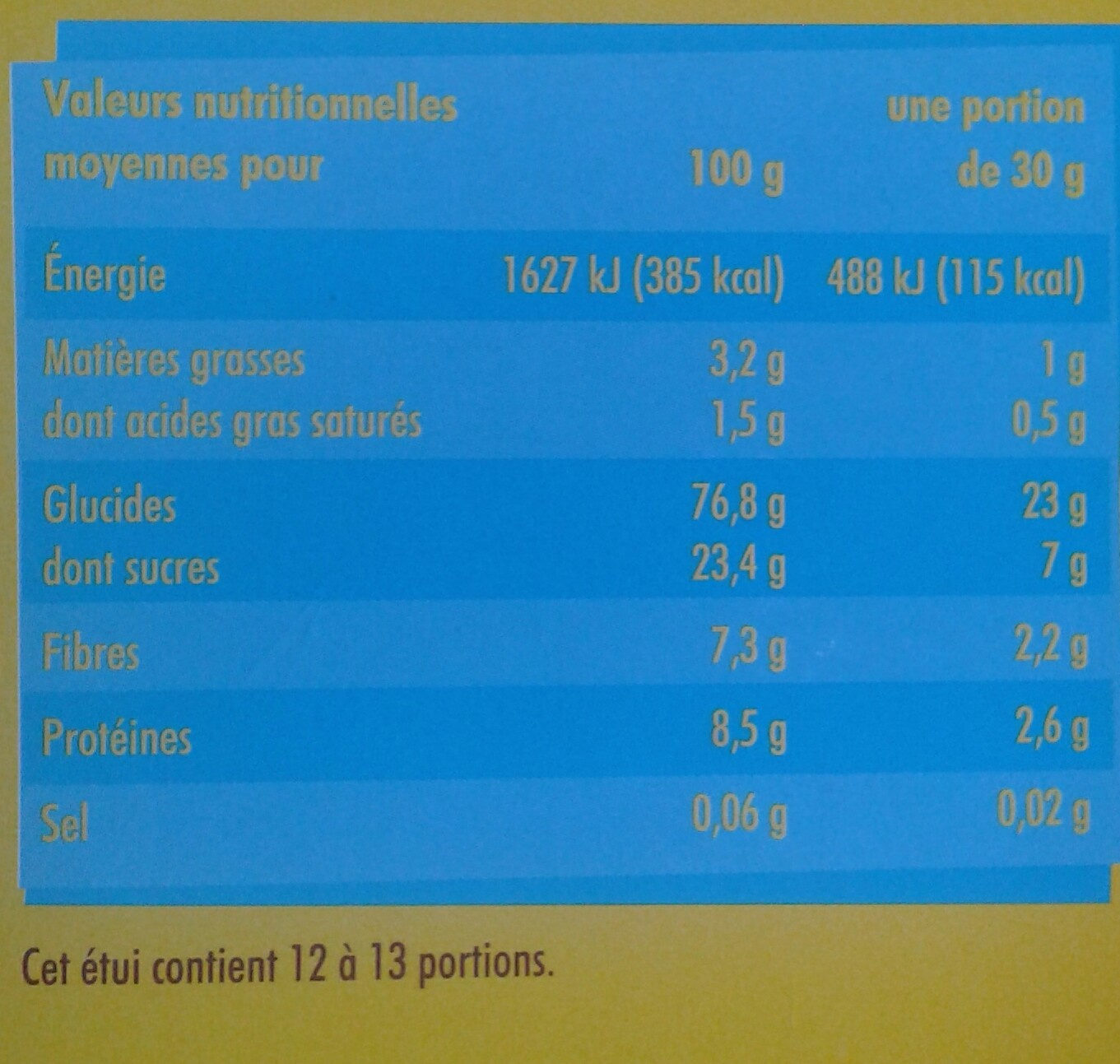 Billes Chocolatees - Nutrition facts