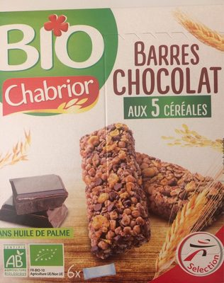 Barre chocolat 5 céreales - Product - fr