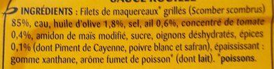 Filets de maquereaux grillés sauce rouille - Ingrédients - fr