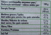 Purée de pomme poire bio - Nutrition facts - fr