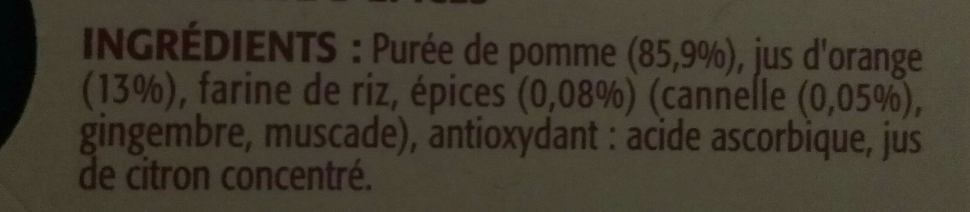 Compote pomme orange épices - Ingrédients - fr
